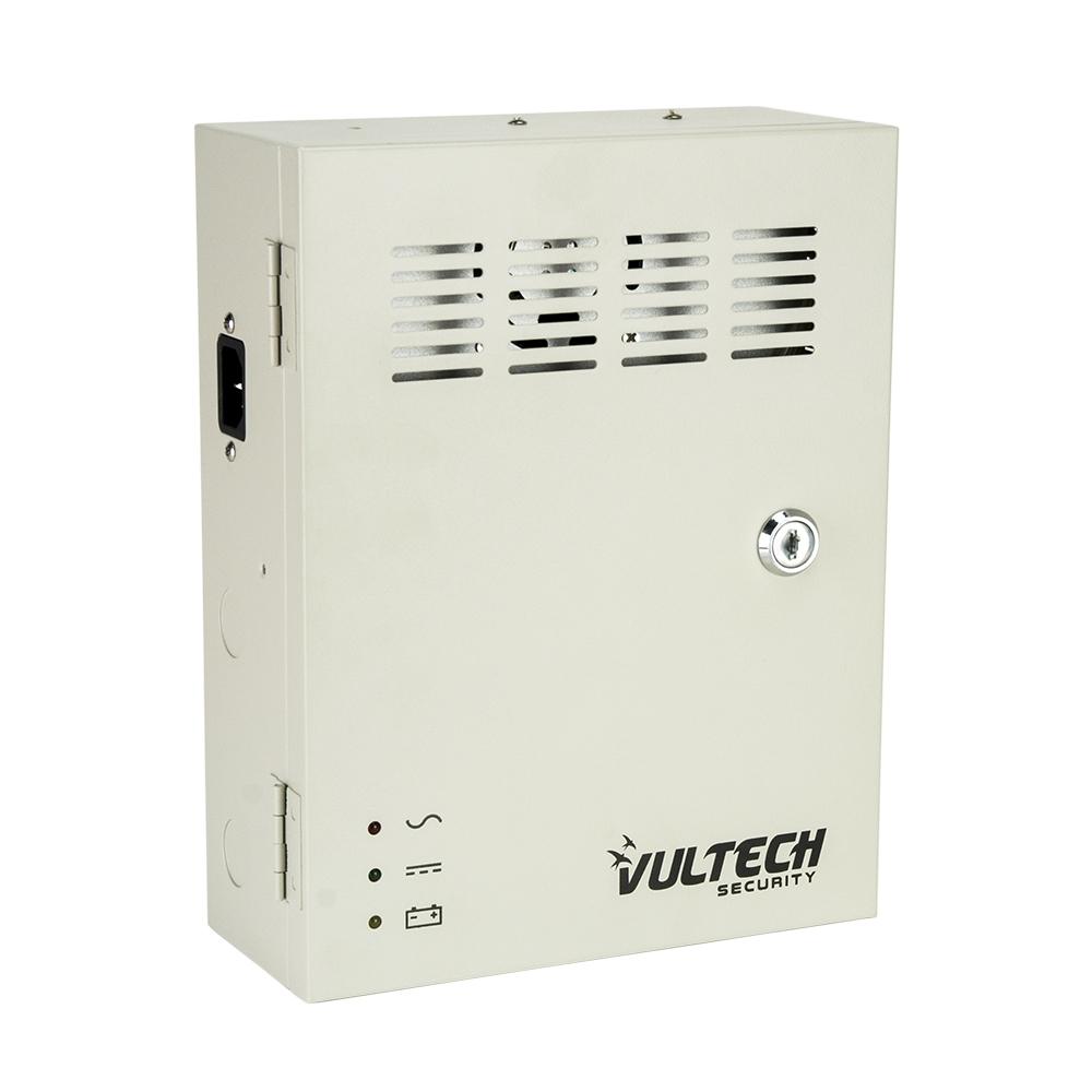Box Alimentatore Centralizzato 12V 10A 9 Canali - Alloggio Batteria - Funzione Backup - PTC